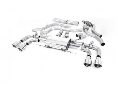 Ligne Milltek avec remplacement tubes primaires après catalyseur avec Valve Alfa Roméo Giulia Quadrifoglio 2.9 V6 Bi-Turbo