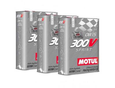 Pack Promo Huile Motul 300V Sprint 0w15 (3 x 2L)