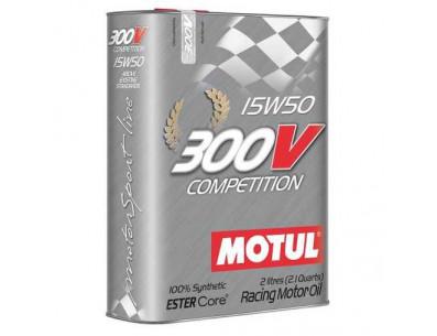 Huile Motul 300V Compétition 15w50 (Bidon de 2L)