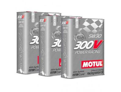 Huile Motul 300V Power Racing 5w30 (3 x 2L)