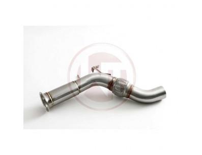 Descente de Turbo Downpipe WAGNER TUNING sans cata pour BMW 730D LCI DPF F01 F02 258cv de 2011 à 2015