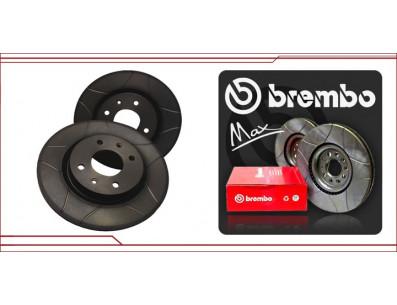 2 Disques de frein avant BREMBO Max moteur G60 rainurés pointés en 280x22mm