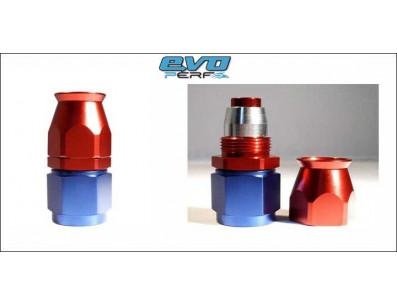 Raccord DROIT DASH 4 an4 - série 200 - bleu et rouge