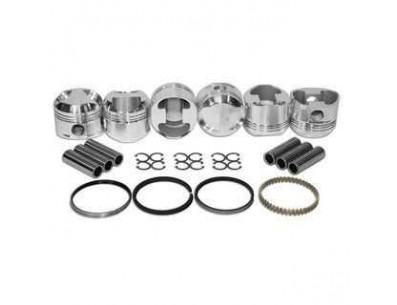 Kit 6 Pistons Forgés WISECO haute compression pour BMW M50B25 2.5L 24V 84mm sans Vanos