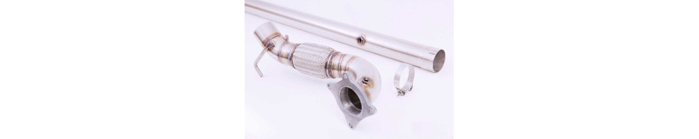 stainless steel decatas and downpipe for Volkswagen Vento cheap in stainless steel, number 1 international delivery !!!