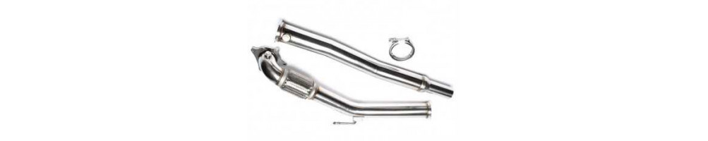 Stainless steel decata and downpipe for Volkswagen Jetta cheap in stainless steel, number 1 international delivery !!!