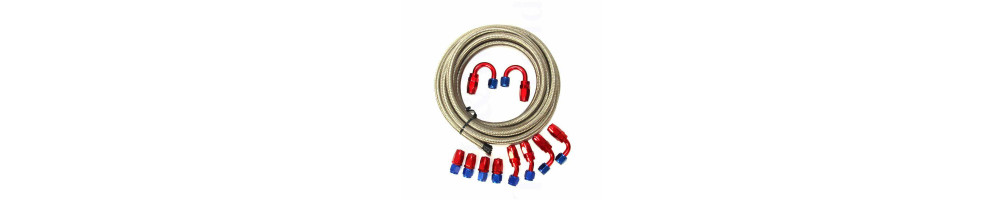 Dash 200 series PTFE braided nylon hose and DASH water fittings