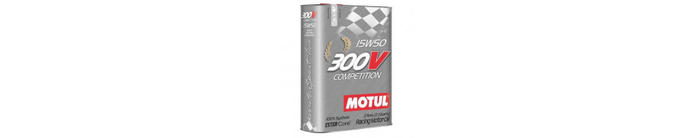 Motul 300v 15w50 Motor Oil Competition range at the best lowest price here - not expensive - Delivery worldwide DOM TOM