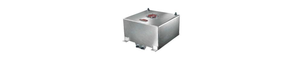 Buffer and rigid aluminum fuel tank